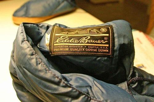 Eddie Bauer goose down slippers, courtesy of Eddie Bauer