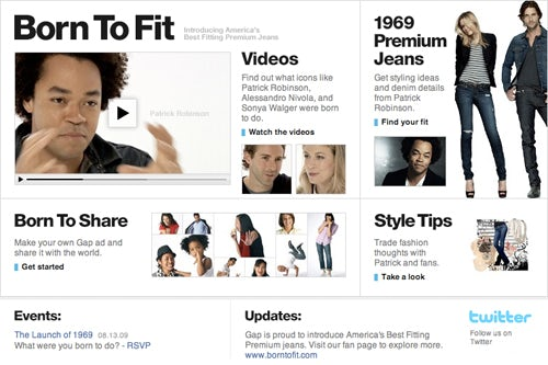 Born to Fit, the new facebook page launched by Gap