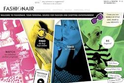 Fashionair.com homepage