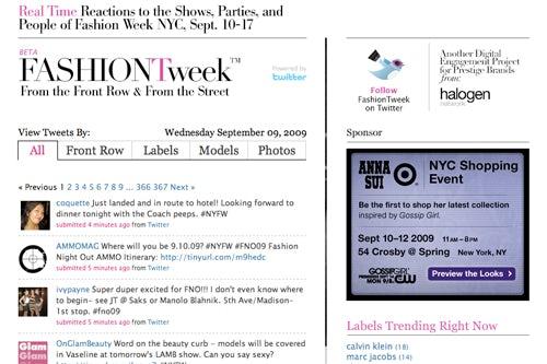Fashiontweak.com homepage