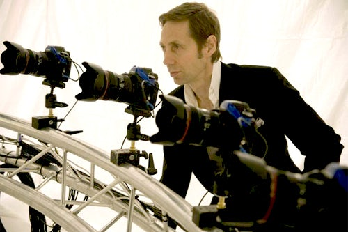 Nick Knight on location