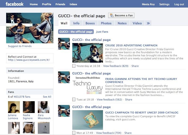 Gucci Facebook page | Source: Facebook