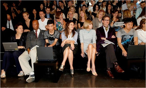 Dolce and Gabbana Front Row Spring Summer 2010 | Source: New York Times