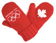 Vancouver Red Mittens | Source: Hudson's Bay Company