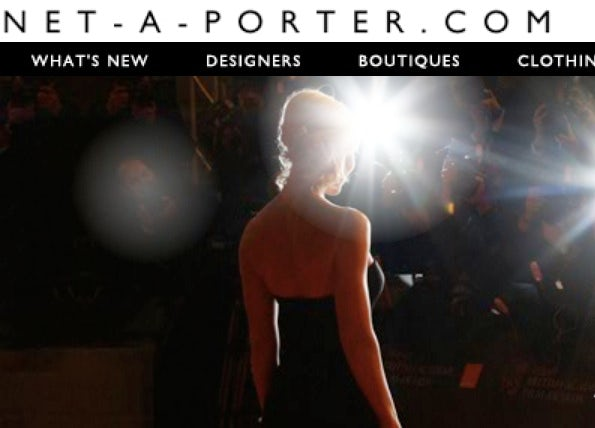 Net-a-Porter homepage | Source: Net-a-Porter