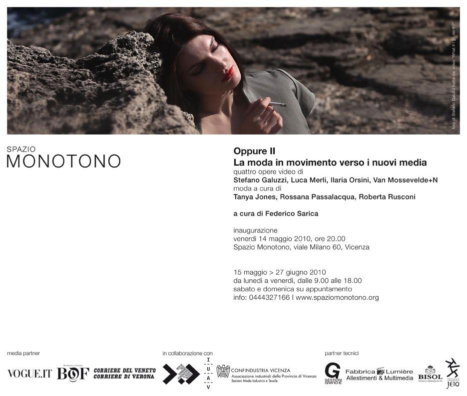 Oppure Advertisement | Source: Fuori Biennale
