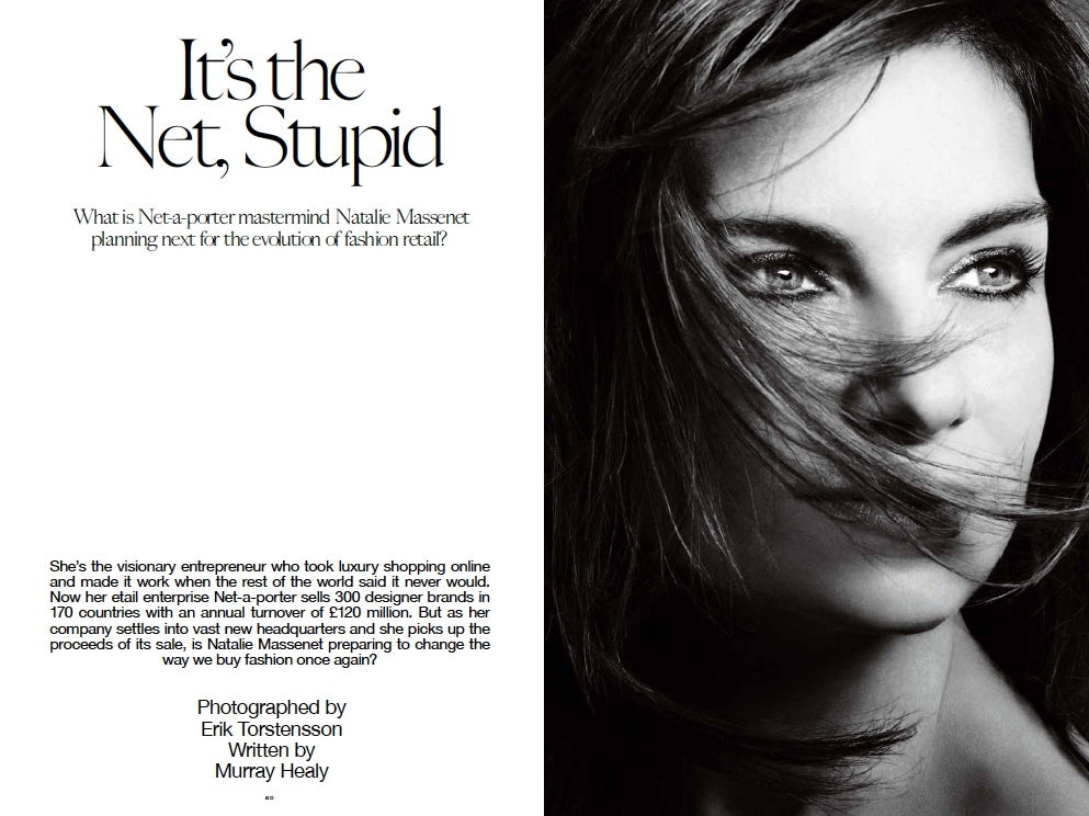Natalie Massenet, It's the Net Stupid | Source: INDUSTRIE