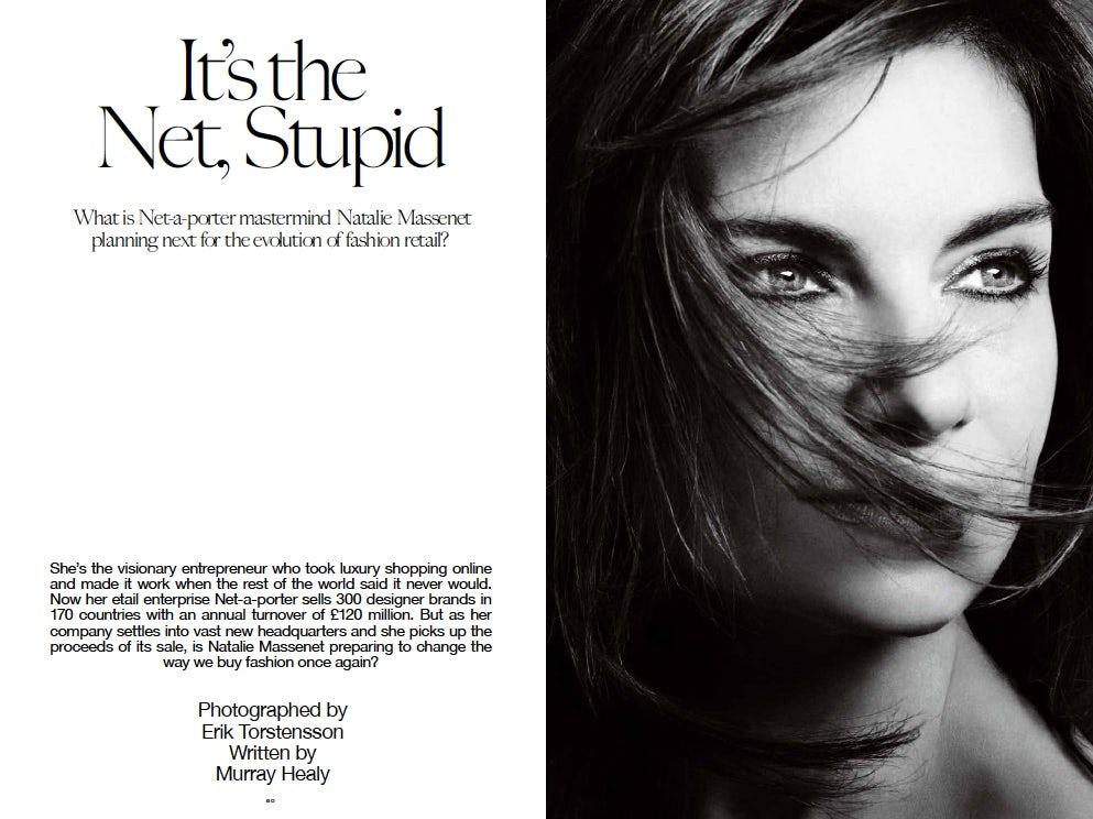 Natalie Massenet, It's the Net Stupid | Source: INDUSTRIE