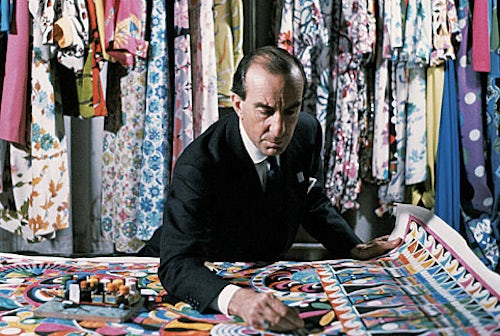 Emilio Pucci in his workshop, 1950s | Source: Life in Italy