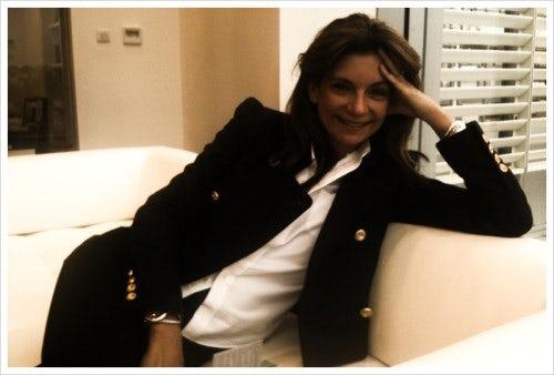 Natalie Massenet in her Net-a-Porter 'living room' 10 June 2010 | Source: BoF