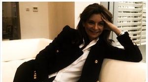 Natalie Massenet in her Net-a-Porter 'living room' 10 June 2010   Source: BoF