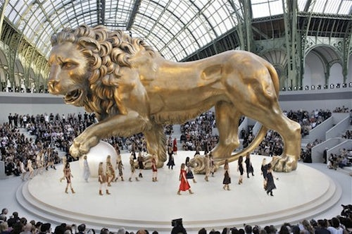 """""""Under the sign of the lion"""" Chanel's Couture Show Fall 2010 