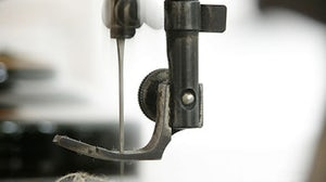 Industrial sewing machine, detail   Source: Act Now