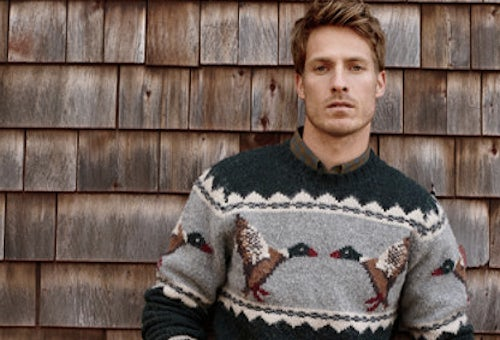L.L. Bean Brushed Lambswool Crew Fair Isle Sweater | Source: L.L. Bean