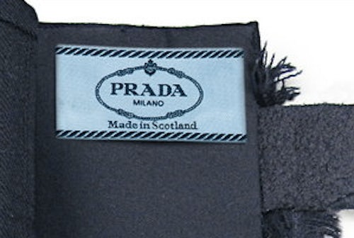 "A ""Made In Scotland"" Prada skirt 