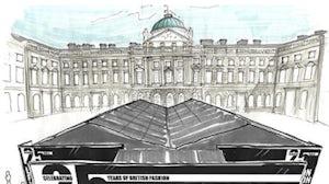 London Fashion Week tent at Somerset House   Source: FashionSpot