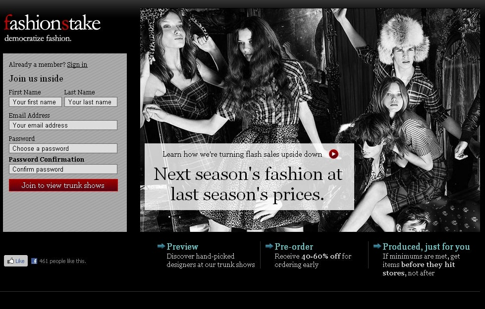 FashionStake Screenshot | Source: FashionStake