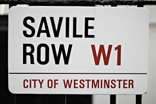 Saville Row Street Sign W1 | Source The Civilized Gentleman