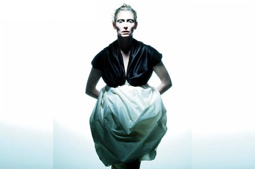 Tilda Swinton in Zero Maria Cornejo | Source: Style Frizz