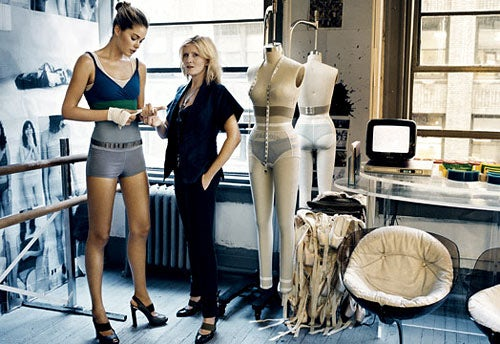 Victoria Bartlett with Doutzen Kroes | Source: American Vogue Nov 2007