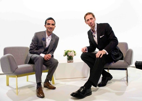 Imran Amed and Nick Knight at Fashion Pioneers | Photo: Samir Hussein