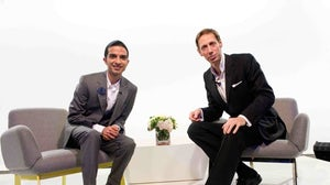 Imran Amed and Nick Knight at Fashion Pioneers   Photo: Samir Hussein