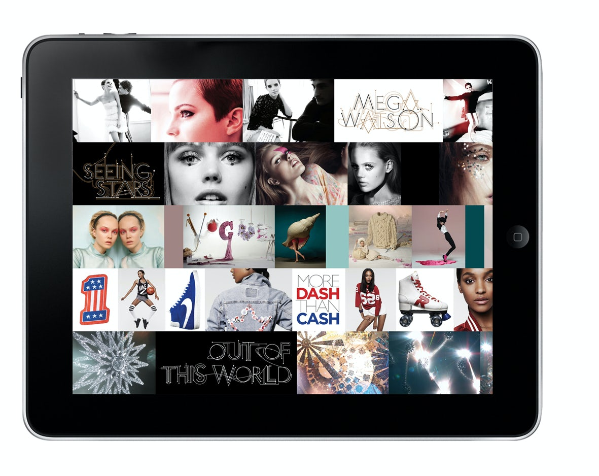 Graphic User Interface of British Vogue iPad App