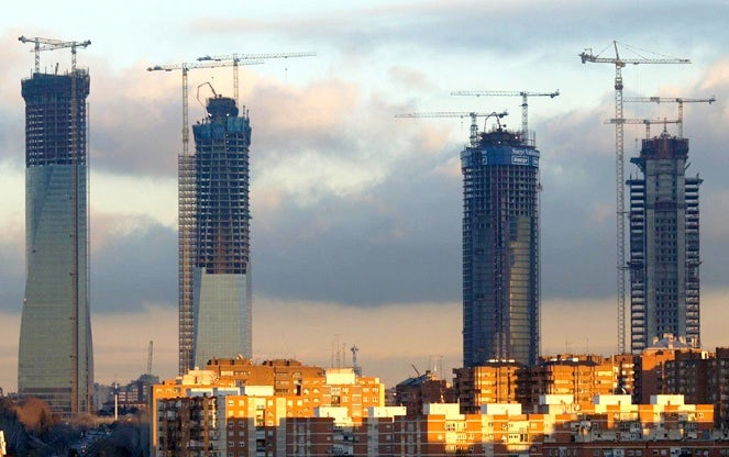 Rising Office Towers in Madrid's Financial District | Source: urbemadrid.es