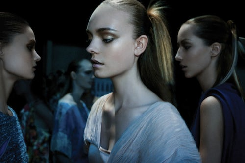 Backstage at Thakoon | Source: Thakoon