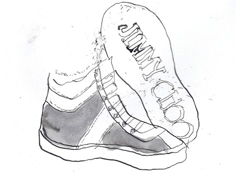Jimmy Choo Men's high-top trainer in cashmere | Source: T Magazine