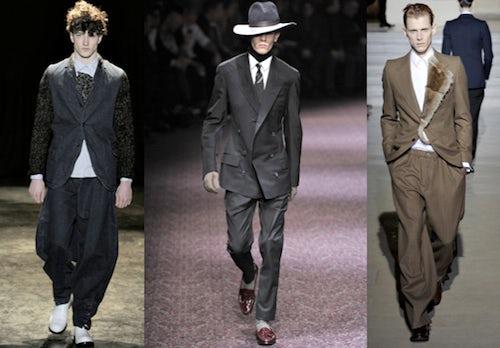 (L-R) Comme des Garçons, Lanvin, and Dries Van Noten | Source: Style.com