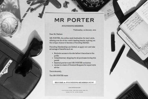 Mr. Porter, coming soon | Source: Mr. Porter