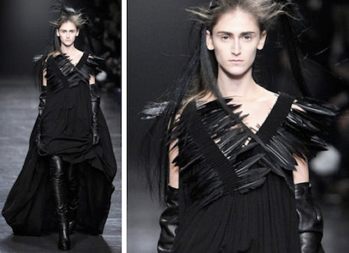 Ann Demeulemeester Autumn/Winter 2011 | Source: The Cutting Class