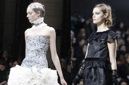 L-R Alexander McQueen, Chanel Autumn/Winter 2011 | Source: Style.com