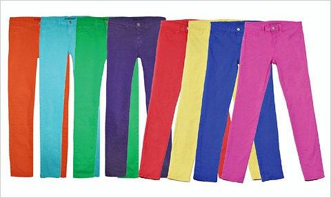 J brand coloured jeans | Source: J Brand