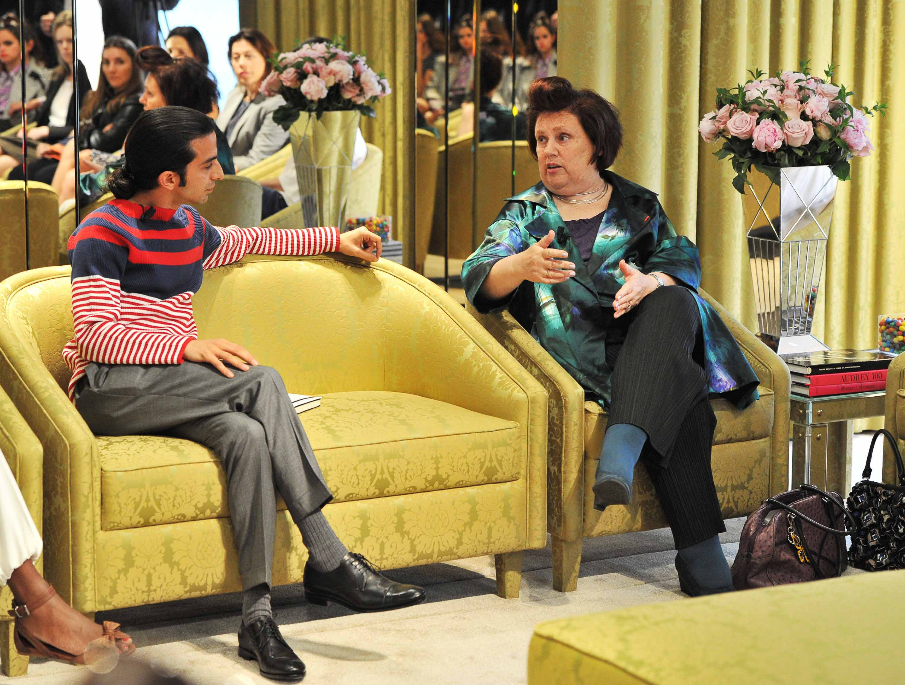 Imran Amed and Suzy Menkes of the  International Herald Tribune | Source: Miu Miu