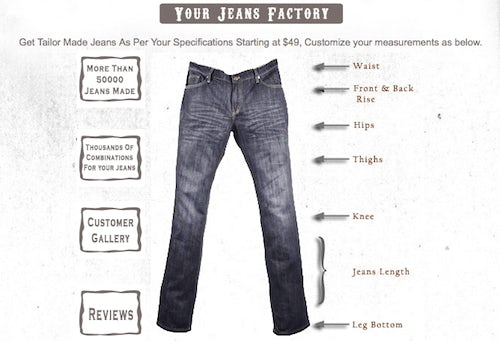 Make your own jeans | Source: Makeyourownjeans.com