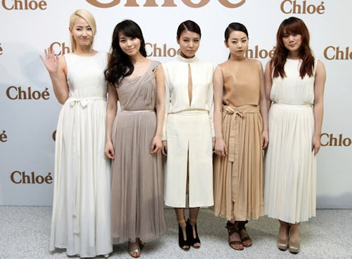 Chinese supergroup Wonder Girls for Chloé | Source: Luxuo