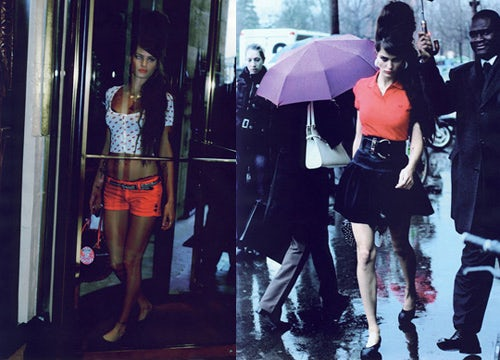 Vogue Paris 2008 Isabeli Fontana as Amy Winehouse   Source: Bubblespop