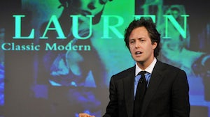 David Lauren at IHT Luxury Conference | Source: Samir Husein for IHT