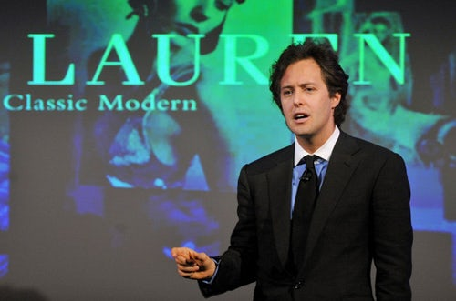 designer ralph lauren cdzd  David Lauren, son of fashion designer Ralph Lauren, has been promoted to  chief innovation officer and vice chairman of the company his father  founded almost