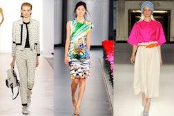 L-R Aquascutum, Mary Katrantzou, Roksanda Ilincic Spring/Summer 2012 | Source: Style.com