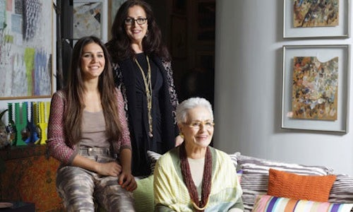 Angela Missoni, Rosita Missoni and Margherita Missoni by Bernardo Conti | Source: The Guardian