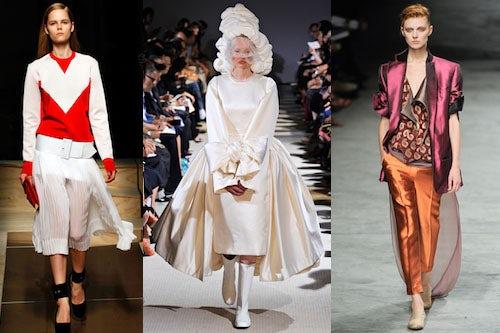 L-R Céline, Comme des Garçons, Haider Ackermann | Source: Style.com