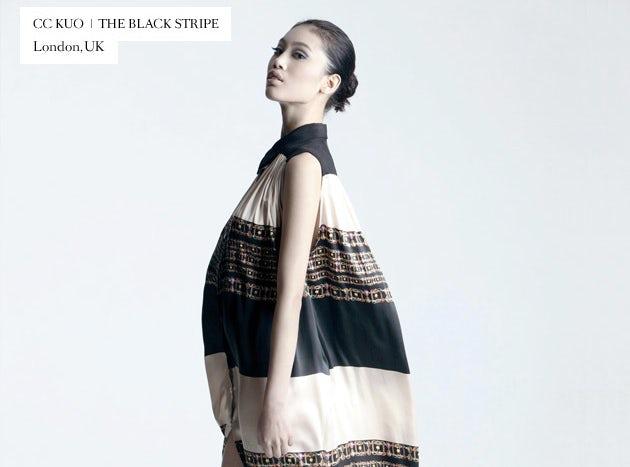 Emerging Designer CC Kuo, The Black Stripe | Source: Lookk.com