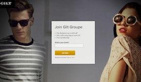 Gilt Groupe screenshot | Source: Gilt Groupe