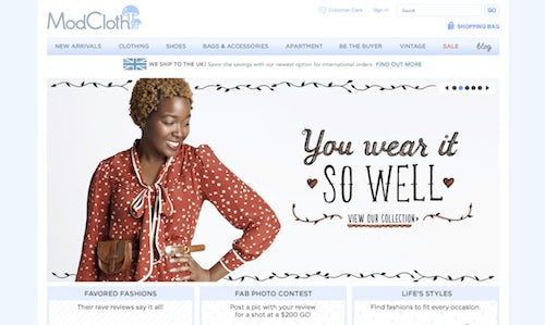 Modcloth screenshot | Source: Modcloth