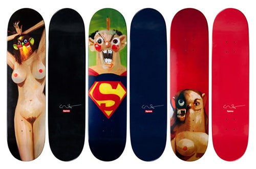 George Condo x Supreme Skate Decks| Source: Hypebeast.com