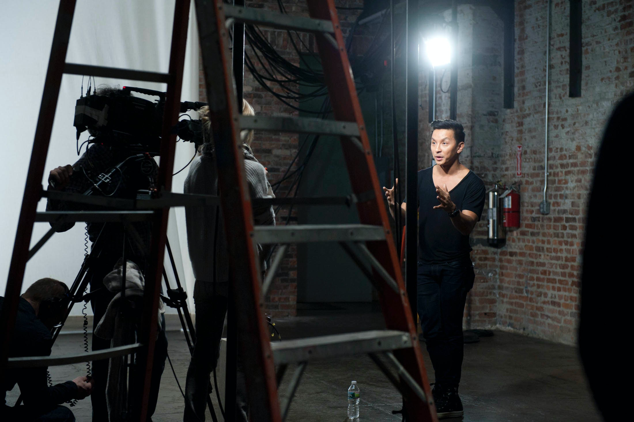 "Prabal Gurung shooting his ""Designer Preview"" video 