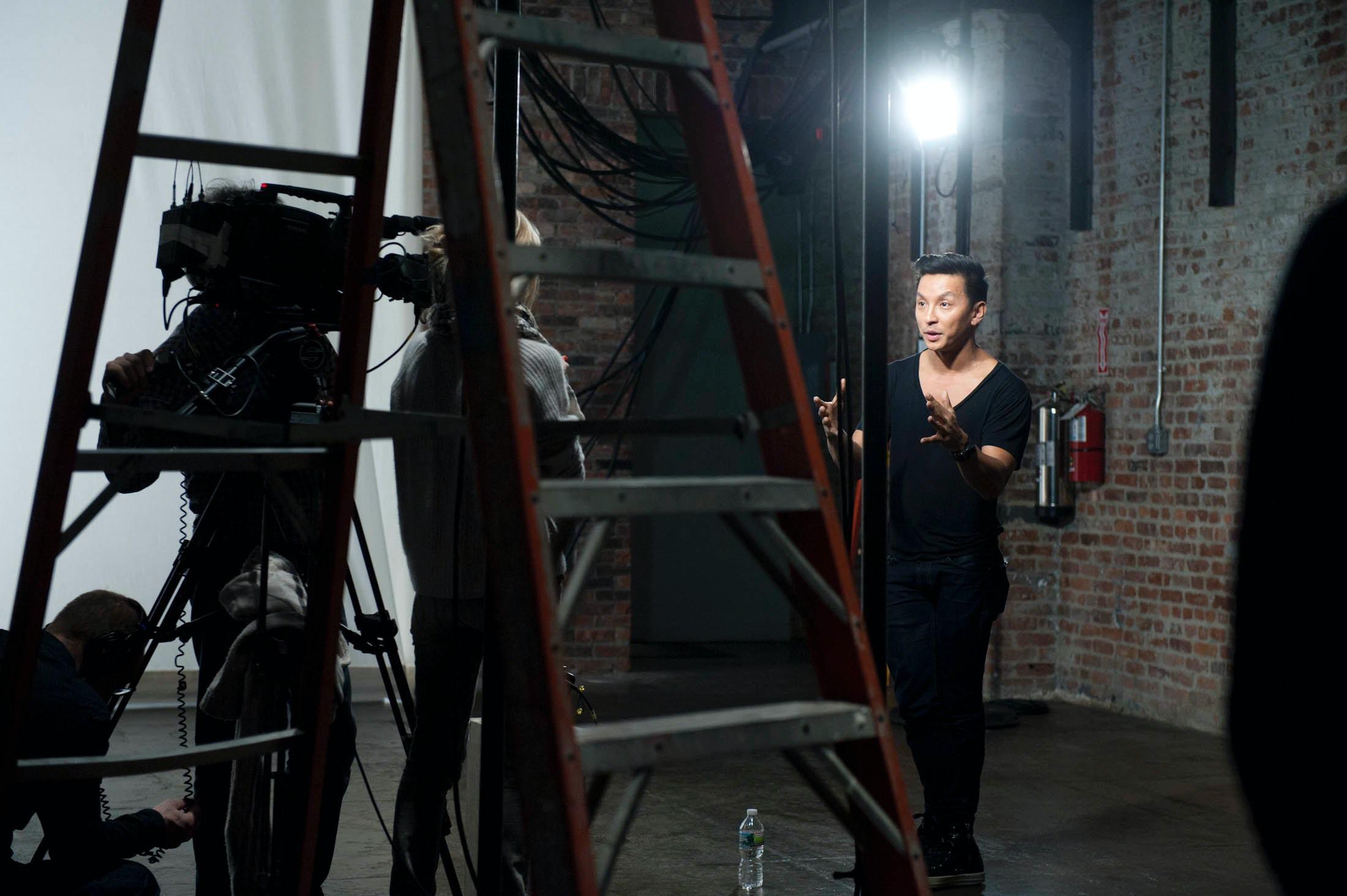 "Prabal Gurung shooting his ""Designer Preview"" video | Photo: Courtesy KCD"